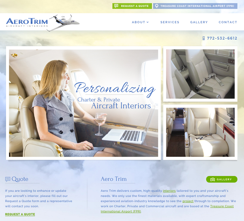 Aircraft Website Design and SEO by TOVO