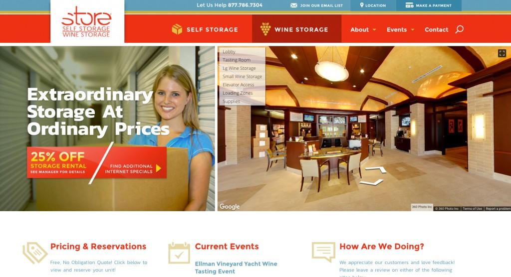 store self storage new website design by tovo