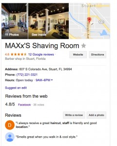 Barber Shop Website Design Maxxs Shaving Room