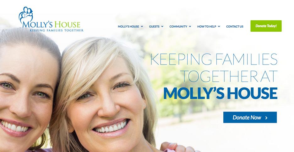 Website Design/Development for Molly's House in Stuart, FL