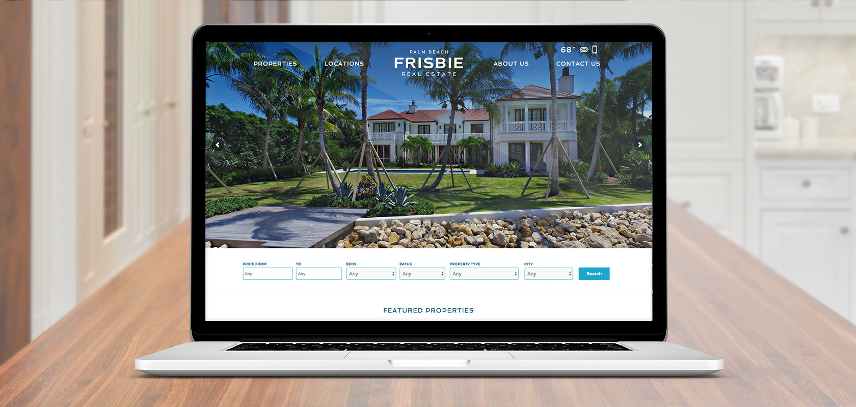 Frisbie Palm Beach website