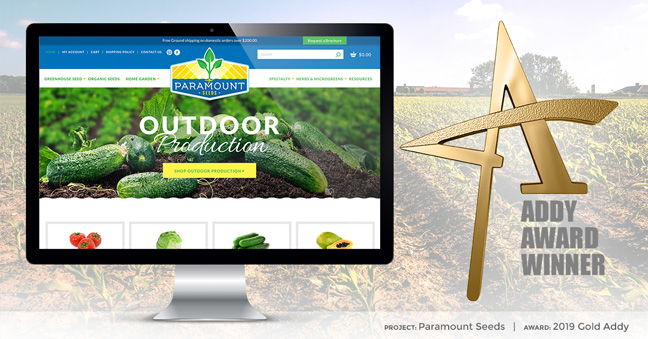 TOVO Wins Gold ADDY Award for Paramount Seeds Website Design